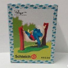 Figuras de Goma y PVC Schleich: PITUFO SIESTA (EN CAJA) LOS PITUFOS SCHLEICH PEYO SUPER PITUFO SMURFS BARRUFETS. Lote 95390374