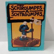 Figuras de Goma y PVC Schleich: PITUFO NÁUFRAGO (EN CAJA) LOS PITUFOS SCHLEICH PEYO SMURFS BARRUFETS SUPER PITUFO. Lote 95390715
