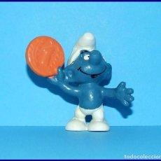 Figuras de Goma y PVC Schleich: PITUFOS ORIGINALES SCHLEICH 20029 PITUFO CON MONEDA . Lote 95494439