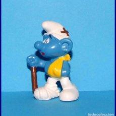 Figuras de Goma y PVC Schleich: PITUFOS ORIGINALES SCHLEICH 20097 PITUFO HERIDO . Lote 95494531