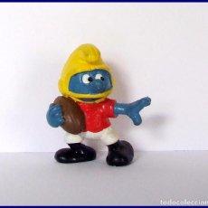 Figuras de Goma y PVC Schleich: PITUFOS ORIGINALES SCHLEICH 20132 PITUFO FUTBOL AMERICANO. Lote 95495299