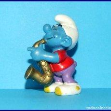 Figuras de Goma y PVC Schleich: PITUFOS ORIGINALES SCHLEICH 20436 PITUFO SAXOFON. Lote 95495335