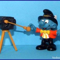 Figuras de Goma y PVC Schleich: PITUFOS SCHLEICH FIGURA 40217 SUPER PITUFO FOTOGRAFO. Lote 98505779