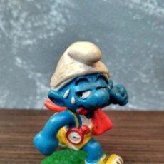 Figuras de Goma y PVC Schleich: FIGURA GOMA PVC PITUFOS PITUFO CORREDOR SCHLEICH. Lote 103231959