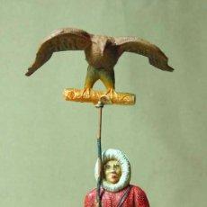 Figuras de Goma y PVC: MEGA RARA FIGURA DE GOMA, MANUEL SOTORRES, ESQUIMAL, CETRERIA, SERIE ESQUIMALES 50S. Lote 20713814