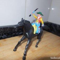 Figuras de Goma y PVC: FIGURA PVC SOTORRES ASALTO A LA DILIGENCIA VAQUERO GORRO DESMONTABLE . Lote 72278435