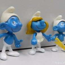 Figuras de Goma y PVC: COLECCIÓN DE FIGURAS PVC GOMA PEYO MUÑECO DIBUJOS ANIMADOS PITUFOS SMURFS. Lote 102843239
