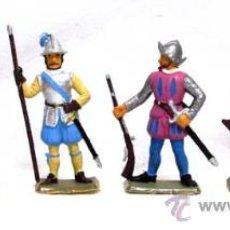 Figuras de Goma y PVC: 6 CONQUISTADORES DE STARLUX SERIE CONQUISTADORES ESPAÑOLES AÑOS 70. Lote 14659108