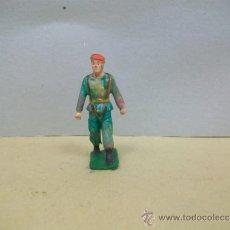 Figuras de Goma y PVC: FIGURA PARACAIDISTA STARLUX - FIGURA DE STARLUX SERIE PARACAIDISTA. Lote 38100016