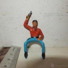 Figuras de Goma y PVC: MUY ANTIGUA FIGURA DEL OESTE. Lote 50785032