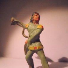 Figuras de Goma y PVC: FIGURA INDIO STARLUX GOMA. Lote 76535379