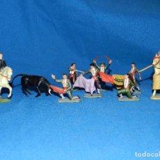 Figuras de Goma y PVC: (M) LOTE DE 11 FIGURAS DE PLASTICO STARLUX , FIGURAS DE TOREROS ( TORERO ) , MUY BUEN ESTADO. Lote 80229021