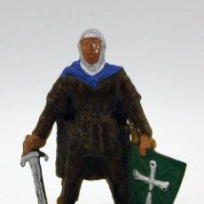 Figuras de Goma y PVC: FIGURA DE CABALLERO MEDIEVAL STARLUX. Lote 108251363