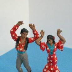 Figuras de Goma y PVC: TEIXIDO - FIGURAS DE GOMA AÑOS 60 - FLAMENCOS BAILANDO. Lote 59615607