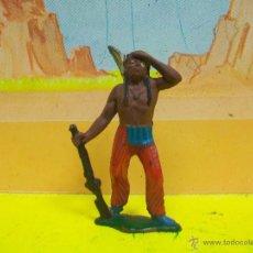 Figuras de Goma y PVC: FIGURA INDIO TEIXIDO - INDIO JECSAN GOMA - INDIO AÑOS 50 EN GOMA. Lote 53669412