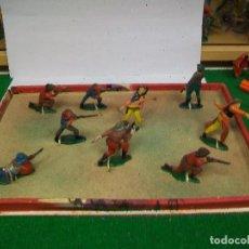Figuras de Goma y PVC: CAJA ORIGINAL AGUSTI TEIXIDO - CAJA TEIXIDO AÑOS 50 - FIGURAS GOMA TEIXIDO TEIXIDOR. Lote 74758211
