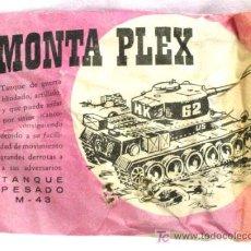 Figuras de Goma y PVC: SOBRE MONTA PLEX MONTAPLEX TANQUE PESADO 1967. Lote 94105292
