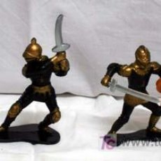 Figuras de Goma y PVC: 4 FIGURAS MEDIEVALES EN GOMA. Lote 5317843