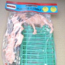 Figuras de Goma y PVC: BLISTER NOVOLINEA - COMANSI EL ZOO VALLAS ANIMALES ,,AÑOS 70-GASTOS ENVIO 4 EUROS. Lote 10452534