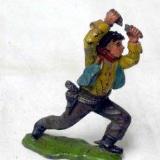 Figuras de Goma y PVC: VAQUERO EN GOMA DE REAMSA AÑOS 50. Lote 10797337