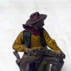 Figuras de Goma y PVC: VAQUERO EN GOMA DE REAMSA AÑOS 50. Lote 10797344