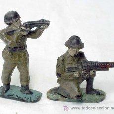 Figuras de Goma y PVC: 2 SOLDADOS DE PLÁSTICO DURO 1ª GUERRA MUNDIAL DE CAPELL. Lote 7708076