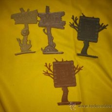 Figuras de Goma y PVC: 2 POSTES RECOMPENSA,1 TEXAS ,1 DALLAS ,COMANSI,REAMSA?. Lote 13542534