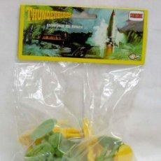 Figuras de Goma y PVC: 12 FIGURAS THUNDERBIRDS DE COMANSI GUARDIANES DEL ESPACIO AÑOS 80. Lote 49119817