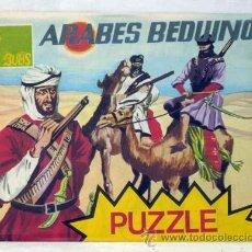 Figuras de Goma y PVC: PUZZLE ARABES BEDUINOS SOLDADOS ÁRABES BEDUINOS 2ª GUERRA MUNDIAL MONTA PLEX AÑOS 70. Lote 43565412