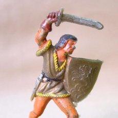 Figuras de Goma y PVC: FIGURA PLASTICO, MEDIEVAL REG, INDUSTRIAS MOYA, PRINCIPE VALIENTE . Lote 12508507