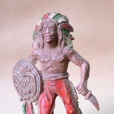 Figuras de Goma y PVC: FIGURA GOMA LAFREDO INDIAN INDIO 50S RARE RARO. Lote 13498337