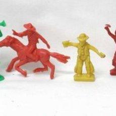 Figuras de Goma y PVC: LOTE DE 6 FIGURAS DE PIPERO 4 VAQUEROS Y 1 FEDERAL CON TROMPETA. Lote 1984561