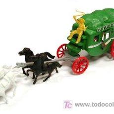 Figuras de Goma y PVC: SOTORRES DILIGENCIA 4 CABALLOS SIN CONDUCTOR -REF,2825. Lote 175077440