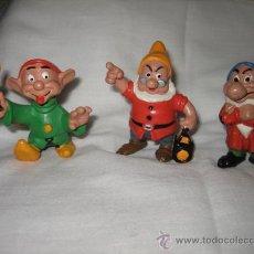 Figuras de Goma y PVC: MUÑECOS PVC 3 ENANITOS COMICS SPAIN WALT DISNEY PRODUCION. Lote 18884501
