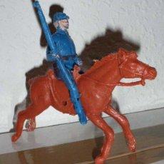 Figuras de Goma y PVC: ANTIGUA FIGURA DE VAQUERO AMERICANO A CABALLO EN PLASTICO - CREO QUE ES DE COMANSI PERO NO ESTOY SEG. Lote 21357064
