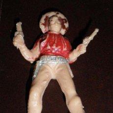 Figuras de Goma y PVC: ANTIGUA FIGURA DE VAQUERO EN PLASTICO - CREO QUE ES DE COMANSI PERO NO ESTOY SEGURO - TAMBIEN PUDIER. Lote 11251659