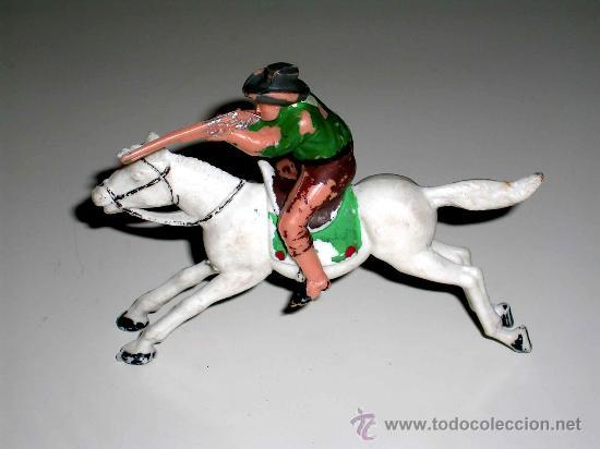 COWBOY A CABALLO OESTE FABRICADOS EN PLÁSTICO POR LA CASA REAMSA, AÑOS 60. (Juguetes - Figuras de Goma y Pvc - Reamsa y Gomarsa)