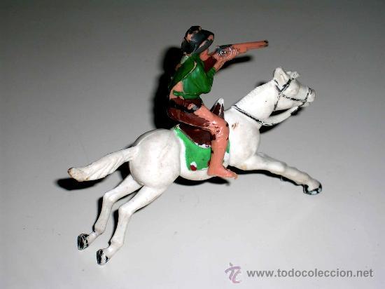Figuras de Goma y PVC: Cowboy a caballo oeste fabricados en plástico por la casa Reamsa, años 60. - Foto 2 - 17907376