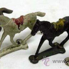 Figuras de Goma y PVC: CUATRO CABALLOS DE CAPELL EN GOMA AÑOS 50. Lote 11433047