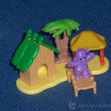 Figuras Kinder: ISLA CON CASITA Y PIRATA DE KINDER SORPRESA. Lote 99129827