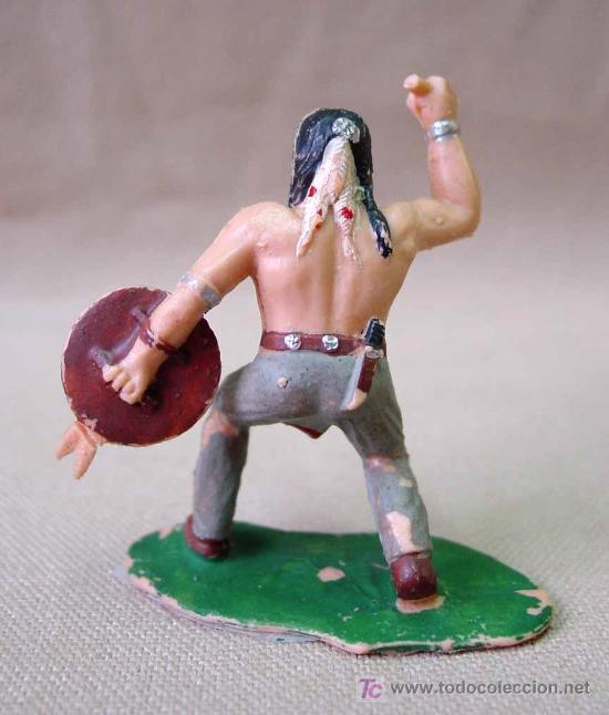 Figuras de Goma y PVC: FIGURA PLASTICO REAMSA APACHE RESERVACION INDIA RARO - Foto 2 - 16213609