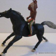 Figuras de Goma y PVC: INDIO A CABALLO . SOTORRES ? . Lote 24196034