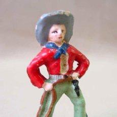 Figuras de Goma y PVC: FIGURA FRANCIA VAQUERO COW BOY STARLUX ? CLAIRET ? . Lote 19472291