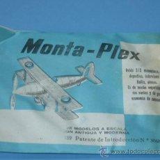 Figuras de Goma y PVC: SOBRE MONTA-PLEX AVION. Lote 12034482