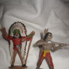 Figuras de Goma y PVC: 2 INDIOS COMANSI . Lote 26378183