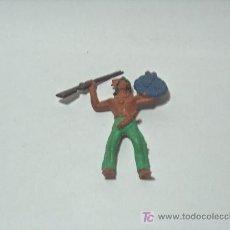Figuras de Goma y PVC: INDIOS Y VAQUEROS ANTIGUOS PINTADOS A MANO. Lote 17813558