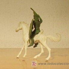 Figuras de Goma y PVC: INDIO CON CABALLO COMANSI. Lote 16744682