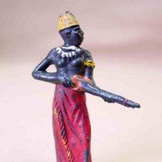 Figuras de Goma y PVC: MARAVILLOSA FIGURA NEGRO SAFARI AFRICA MISTERIOSA CASA BLANCA GULLIVER NO TEIXIDO. Lote 13555999