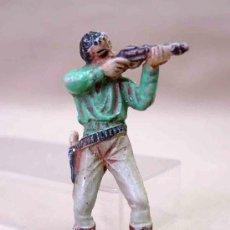 Figuras de Goma y PVC: FIGURA GOMA CAZADOR SERIE NEGROS Y SAFARI PECH MUTILADO . Lote 20083544