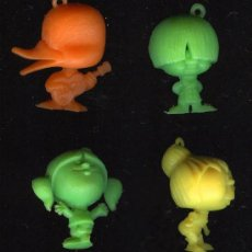 Figuras de Goma y PVC: 4 CABEZUDOS DE PHOSKITOS , . Lote 15457608
